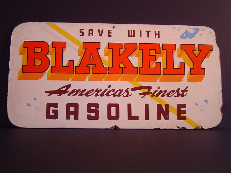 Blakely Brown & Orange Sign