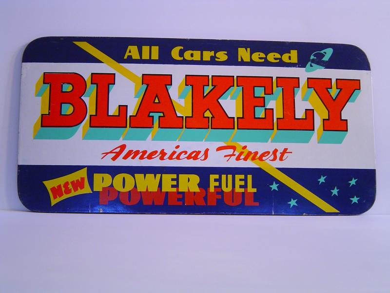 Blakely Blue & White Sign