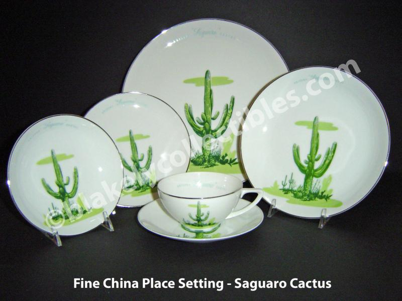 Fine China Place Setting & Blakely Collectibles - BLAKELY FINE CHINA DISHES